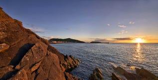 Panorama van Schil tijdens zonsondergang royalty-vrije stock fotografie