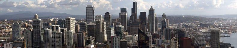 Panorama van Seattle Van de binnenstad Stock Foto