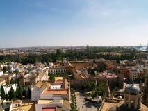 Panorama van Sevilla Royalty-vrije Stock Foto