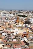 Panorama van Sevilla van de kathedraal belltower Stock Afbeelding