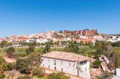 Panorama van Silves in Portugal Royalty-vrije Stock Fotografie