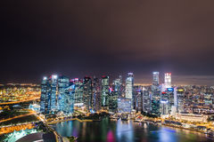 Panorama van Singapore Royalty-vrije Stock Fotografie