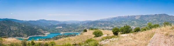 Panorama van Siurana, Catalonië, Spanje Stock Afbeeldingen