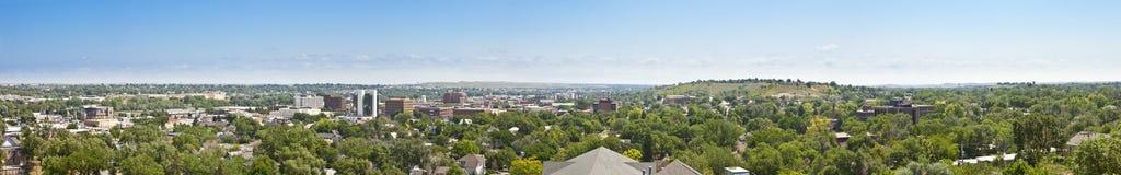 Panorama van Snelle Stad, Zuid-Dakota Stock Foto