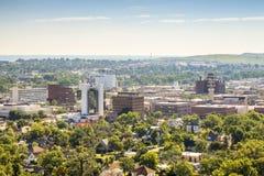 Panorama van Snelle Stad, Zuid-Dakota stock afbeelding