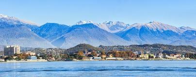 Panorama van Sotchi, Adler-gebied in november royalty-vrije stock afbeelding