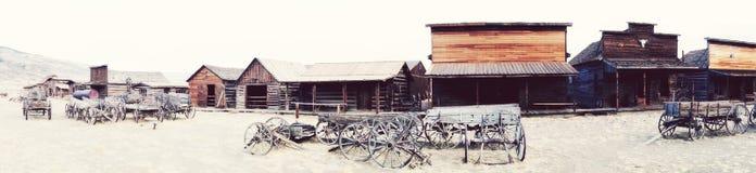 Panorama van Spookstad, Cody, Wyoming, Verenigde Staten Stock Afbeeldingen