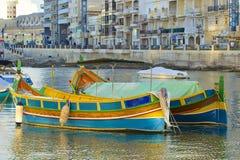 Panorama van St Julians in Malta Royalty-vrije Stock Foto's
