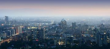 Panorama van stad Stock Afbeelding