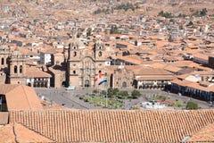 Panorama van stad Cusco Stock Afbeeldingen