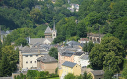 Panorama van stad Luxemburg Royalty-vrije Stock Foto