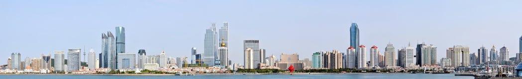 Panorama van Stad in qingdao Stock Foto's