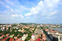 Panorama van Stad in qingdao Stock Fotografie