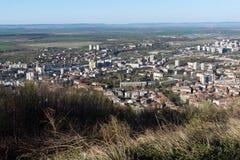 Panorama van stad van Shumen, Bulgarije royalty-vrije stock afbeeldingen