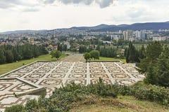 Panorama van stad van Stara Zagora, Bulgarije royalty-vrije stock afbeeldingen
