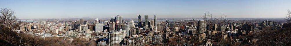 Panorama van stad van Montreal, Quebec, Canada Stock Foto