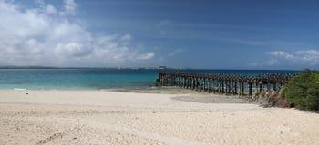 Panorama van steenstad in het eiland van Zanzibar stock foto