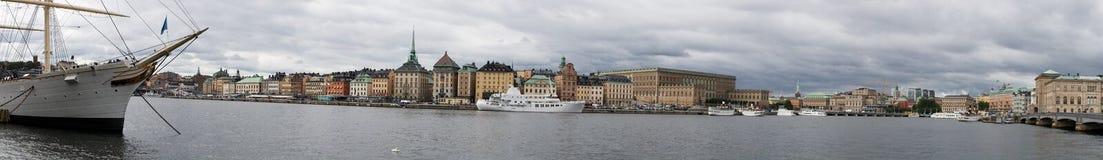 Panorama van Stockholm Stock Foto's