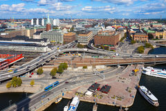 Panorama van Stockholm, Zweden royalty-vrije stock foto's