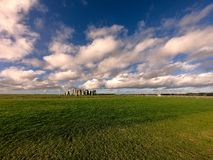Panorama van Stonehenge-monument royalty-vrije stock foto