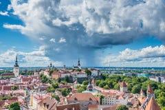 Panorama van Tallinn Stock Afbeelding