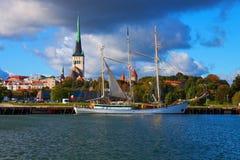 Panorama van Tallinn, Estland Stock Afbeelding