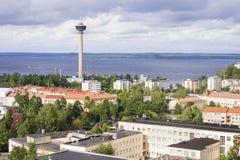 Panorama van Tampere, Finland royalty-vrije stock afbeeldingen