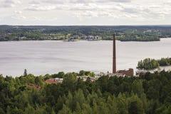 Panorama van Tampere, Finland Stock Afbeeldingen