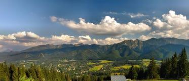 Panorama van Tatra Stock Afbeeldingen