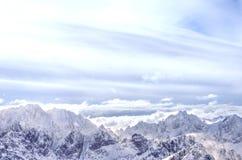 Panorama van Tatry-bergen tijdens de winter Royalty-vrije Stock Foto's