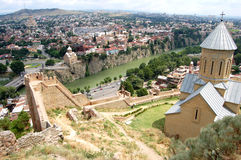 Panorama van Tbilisi Stock Afbeelding