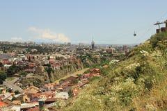 Panorama van Tbilisi, Georgië Stock Foto's