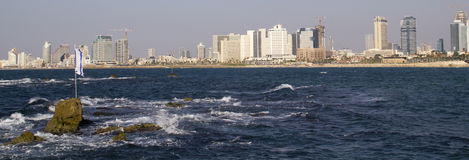 Panorama van Tel Aviv israël royalty-vrije stock fotografie