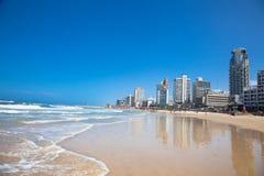 Panorama van Tel Aviv. Isra Royalty-vrije Stock Foto