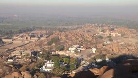 Panorama van tempelstad in India stock footage