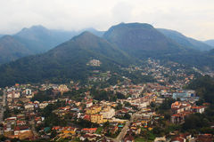 Panorama van Teresopolis, Brazilië royalty-vrije stock fotografie