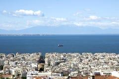 Panorama van Thessaloniki stock fotografie