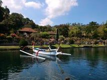 Panorama van Tirtagangga Bali stock foto's