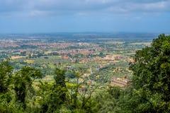 Panorama van Tivoli, Italië Stock Afbeeldingen