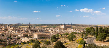 Panorama van Toledo in Spanje Royalty-vrije Stock Foto's