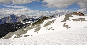 Panorama van torenhoge pieken in de Kustbergen van Brits Col. Royalty-vrije Stock Foto