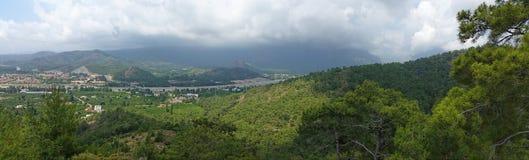 Panorama van torrosmountines Stock Foto's