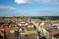 Panorama van Torun Stock Foto