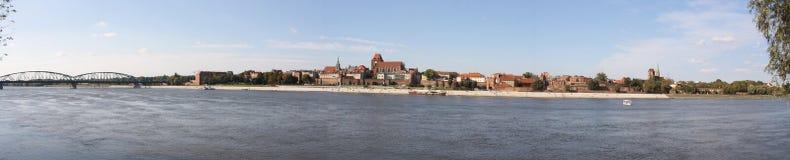 Panorama van Torun Stock Afbeeldingen