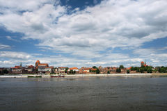 Panorama van Torun, Polen. No1 Royalty-vrije Stock Fotografie