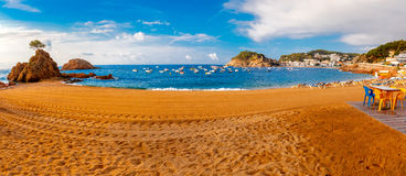 Panorama van Tossa de Mar, Costa Brava, Spanje Royalty-vrije Stock Afbeelding