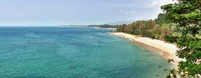 Panorama van tropisch strand - Thailand, Phuket Stock Fotografie