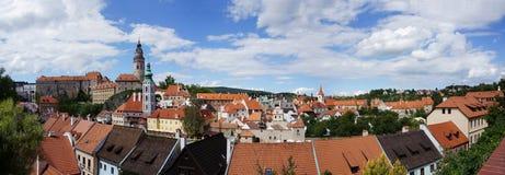 Panorama van Tsjechische Krumlov 2 royalty-vrije stock fotografie