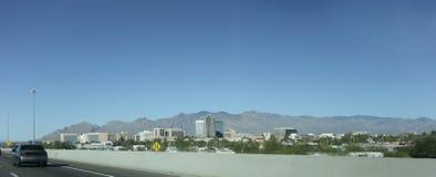 Panorama van Tucson, AZ stock fotografie