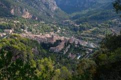 Panorama van Valdemossa in Mallorca, Spanje Royalty-vrije Stock Foto's